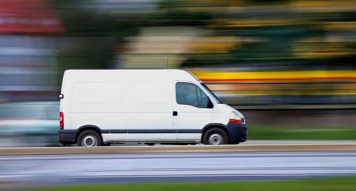 houston delivery van courier service